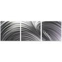 Fusion Triptych Large 70x22in. Metal or Acrylic Contemporary Decor - Image 2
