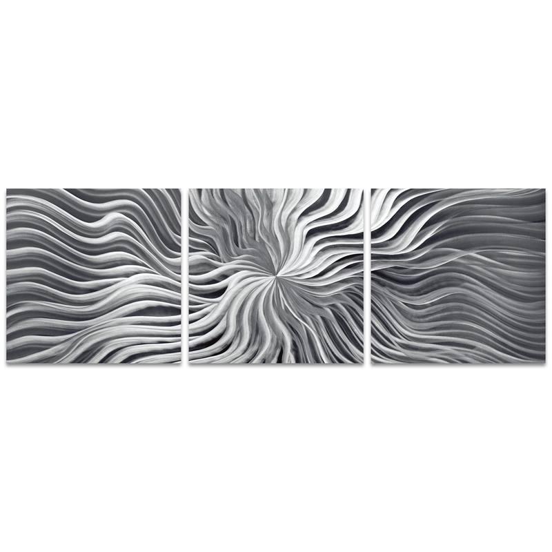 Flexure Triptych Large 70x22in. Metal or Acrylic Contemporary Decor