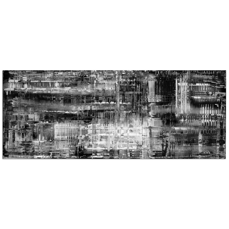 Aporia Black & White - Contemporary Metal Wall Art