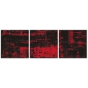 Aporia Red Triptych Large 70x22in. Metal or Acrylic Contemporary Decor