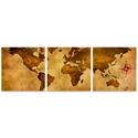 Old World Map Triptych Large 70x22in. Metal or Acrylic Colonial Decor - Image 2