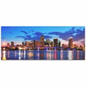 Miami City Skyline - Urban Modern Art, Designer Home Decor, Cityscape Wall Artwork, Trendy Contemporary Art - Alternate View 2
