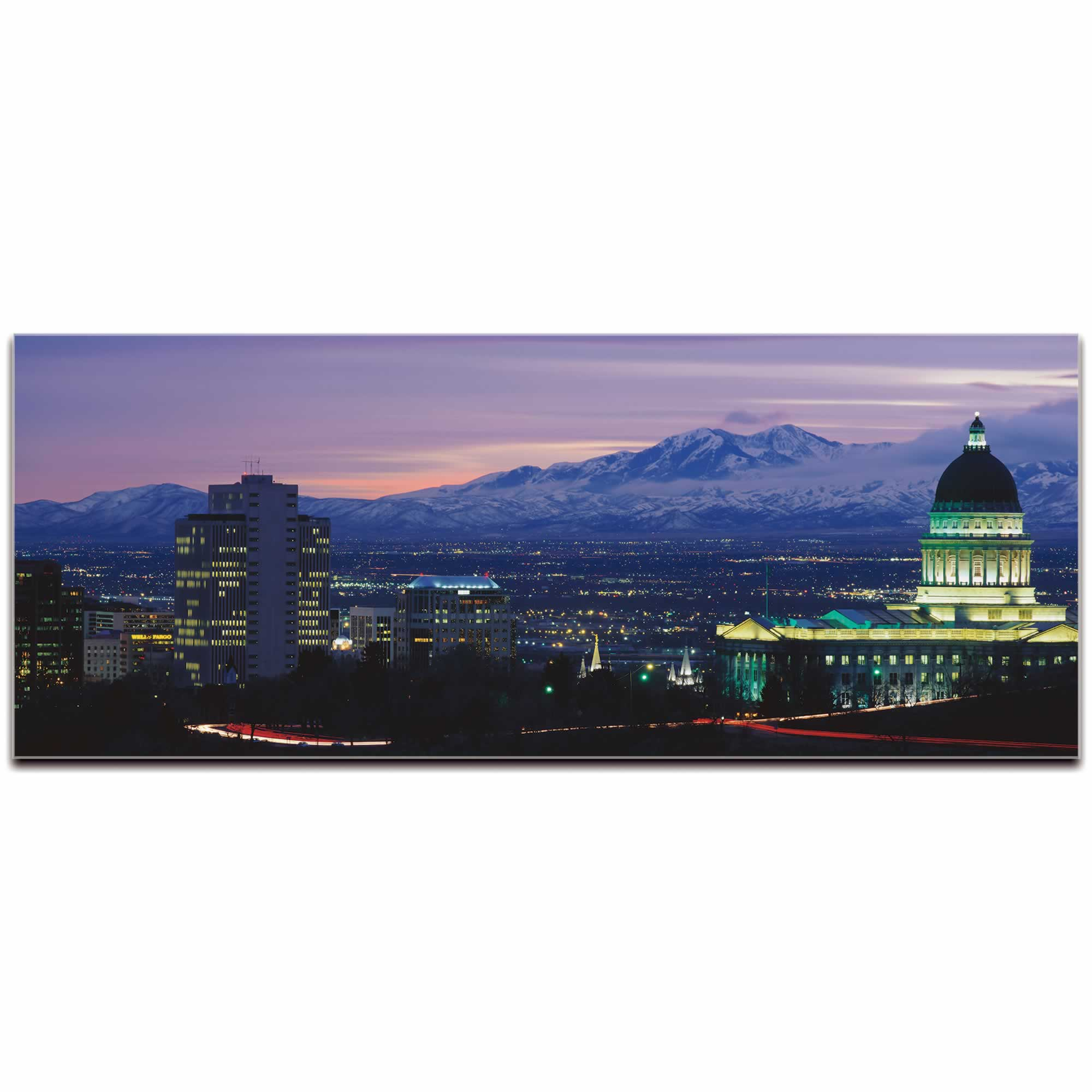 Salt Lake City Skyline - Urban Modern Art, Designer Home Decor, Cityscape Wall Artwork, Trendy Contemporary Art