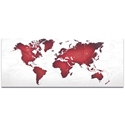 Abstract World Map 'Red White Land and Sea' - Urban Wall Art on Metal or Acrylic - Image 2