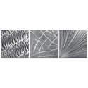 Countless v2 Triptych 38x12in. Metal or Acrylic Contemporary Decor - Image 2