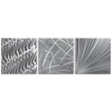 Countless v2 Triptych 38x12in. Metal or Acrylic Contemporary Decor