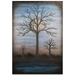 Contemporary Wall Art 'Full Moon' - Bare Trees Decor on Metal or Plexiglass