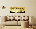 Golden Harmony - Abstract Painting Print by Megan Duncanson - Lifestyle Image