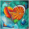 Heart Land - Abstract Painting Print by Megan Duncanson