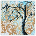 Blue Fantasy - Abstract Painting Print by Megan Duncanson