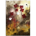 Floral Arrangement - Abstract Painting Print by Megan Duncanson