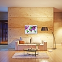 Abstract World Map 'The Beauty of Color Overlay v2' - Modern Map Art on Metal or Acrylic - Lifestyle View 2