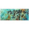 Landscape Painting 'Spring Blooms' - Abstract Tree Art on Metal or Acrylic