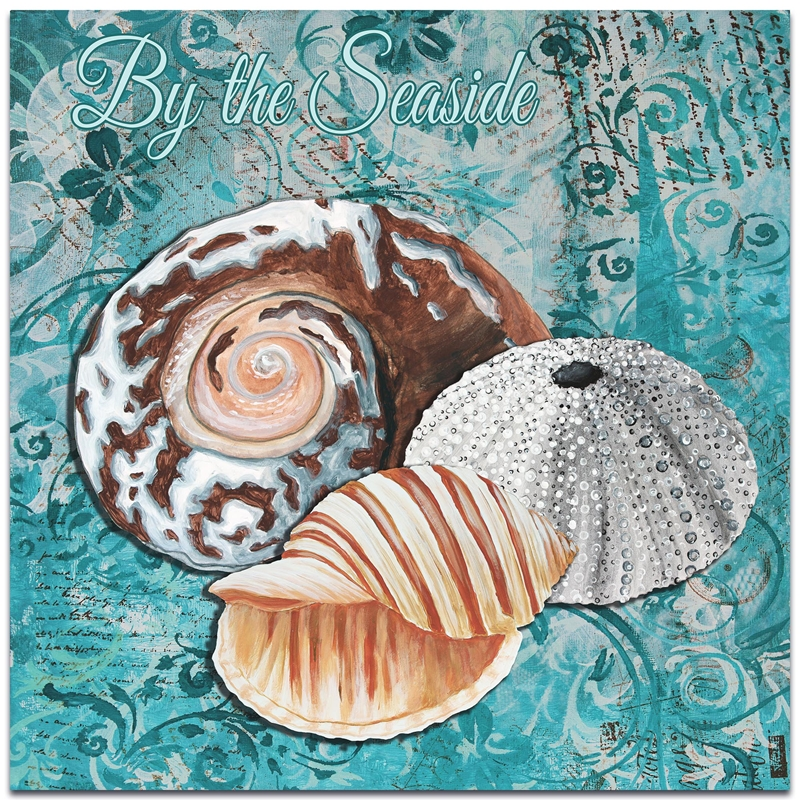 Beach Decor 'By the Seaside' - Coastal Bathroom Art on Metal or Acrylic