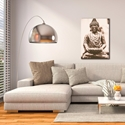 Eclectic Wall Art 'Buddha Statue' - Religion Decor on Metal or Plexiglass - Image 3