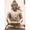 Eclectic Wall Art 'Buddha Statue' - Religion Decor on Metal or Plexiglass - Image 2