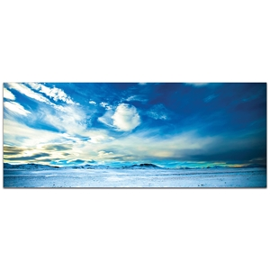 Landscape Photography 'Brisk Skyline' - Winter Scene Art on Metal or Plexiglass