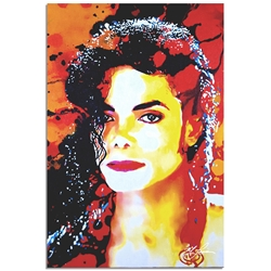 Michael Jackson Perfection Veteran by Mark Lewis - Celebrity Pop Art on Metal or Plexiglass