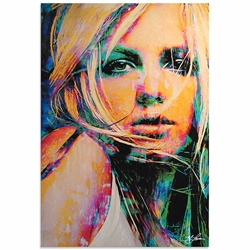 Britney Spears Snow Blind | Pop Art Painting by Mark Lewis, Signed & Numbered Limited Edition