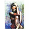Charlize Theron Blue Daze 2 | Pop Art Painting by Mark Lewis, Signed & Numbered Limited Edition - ML0011