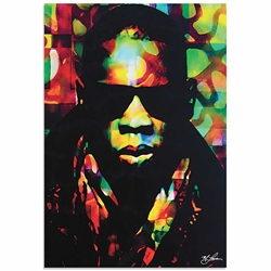 Jay Z Color of a CEO | Pop Art Painting by Mark Lewis, Signed & Numbered Limited Edition