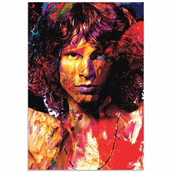 Jim Morrison Window of My Soul | Pop Art Painting by Mark Lewis, Signed & Numbered Limited Edition