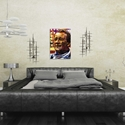 John Wayne Faded Glory by Mark Lewis - Contemporary Pop Art on Metal - Lifestyle View