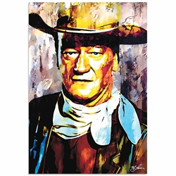John Wayne Gallant Duke | Pop Art Painting by Mark Lewis, Signed & Numbered Limited Edition