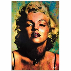 Marilyn Monroe Insatiable | Pop Art Painting by Mark Lewis, Signed & Numbered Limited Edition