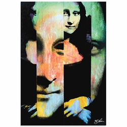 Mona Lisa Noble Purity | Pop Art Painting by Mark Lewis, Signed & Numbered Limited Edition