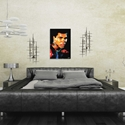 Muhammad Ali Affirmation Realized by Mark Lewis - Contemporary Pop Art on Metal - Lifestyle View