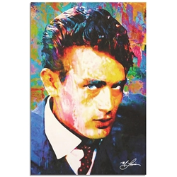 James Dean Lifes Significance by Mark Lewis - Celebrity Pop Art on Metal or Plexiglass