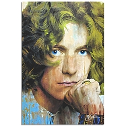 Robert Plant Shear Power by Mark Lewis - Celebrity Pop Art on Metal or Plexiglass