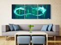 Green Tidal Wave  - Original Canvas Art - Lifestyle Image