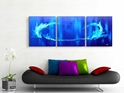 Blue Tidal Wave  - Original Canvas Art - Lifestyle Image