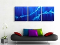 Twin Waves  - Original Canvas Art - Lifestyle Image