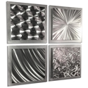 Silver Seasons 25x25in. Natural Aluminum Abstract Decor - Image 2