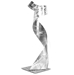 Helena Martin 'The Gown Sculpture' 9in x 32in Modern Metal Art on Ground Metal