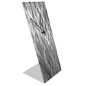 Silver Waves Desk Clock by Helena Martin Modern Table Clock on Natural Aluminum - Image 2