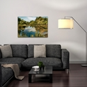 Traditional Wall Art 'Lake' - River Landscape Decor on Metal or Plexiglass - Lifestyle View
