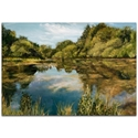 Traditional Wall Art 'Lake' - River Landscape Decor on Metal or Plexiglass