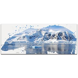 Polar Bear Arctic by Adam Schwoeppe Animal Silhouette on White Metal