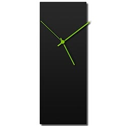 Blackout Green Clock 6x16in. Aluminum Polymetal