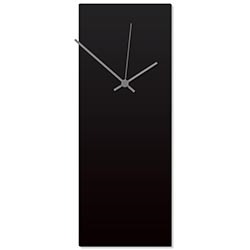 Blackout Grey Clock Large 8.25x22in. Aluminum Polymetal