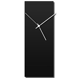 Blackout White Clock 6x16in. Aluminum Polymetal