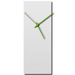 Whiteout Green Clock 6x16in. Aluminum Polymetal