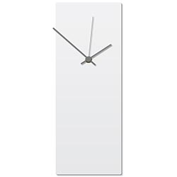 Whiteout Grey Clock 6x16in. Aluminum Polymetal
