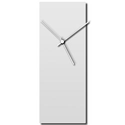 Whiteout White Clock 6x16in. Aluminum Polymetal