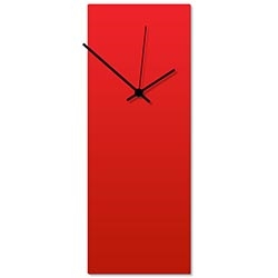 Redout Black Clock Large 8.25x22in. Aluminum Polymetal