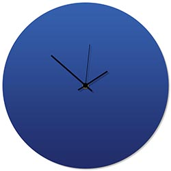 Blueout Black Circle Clock 16x16in. Aluminum Polymetal